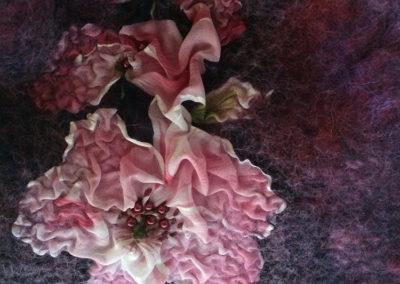 Lila Tasche mit Blumen 2